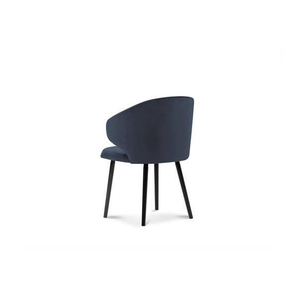 Tmavě modrá jídelní židle se sametovým potahem Windsor & Co Sofas Nemesis