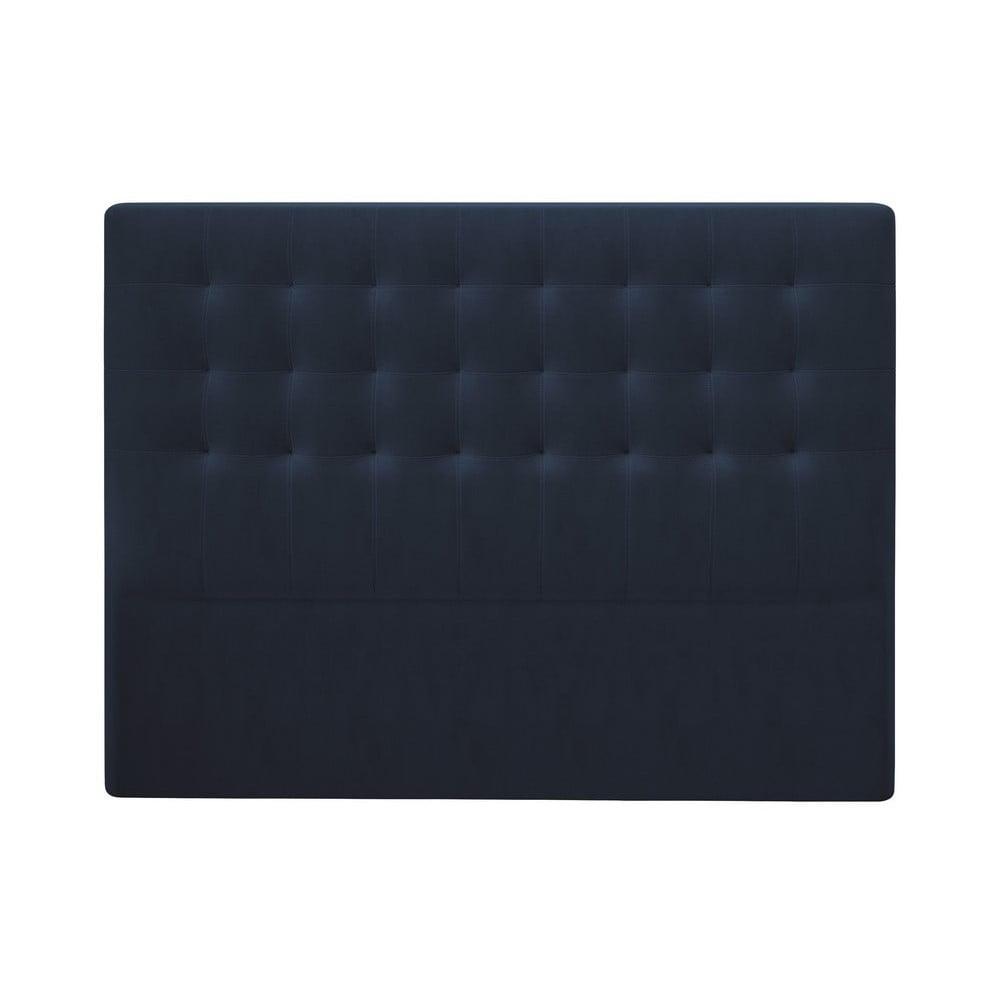 Produktové foto Tmavě modré čelo postele se sametovým potahem Windsor & Co Sofas Athena, 160x120cm