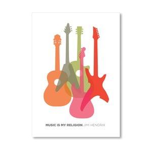 Autorský plakát Music is my Religion Hendrix