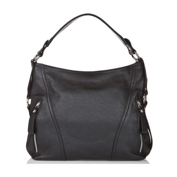 Čierna kožená kabelka Giorgio Costa Sissala