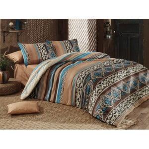 Lenjerie de pat cu cearșaf din bumbac Adriana, 200x220cm