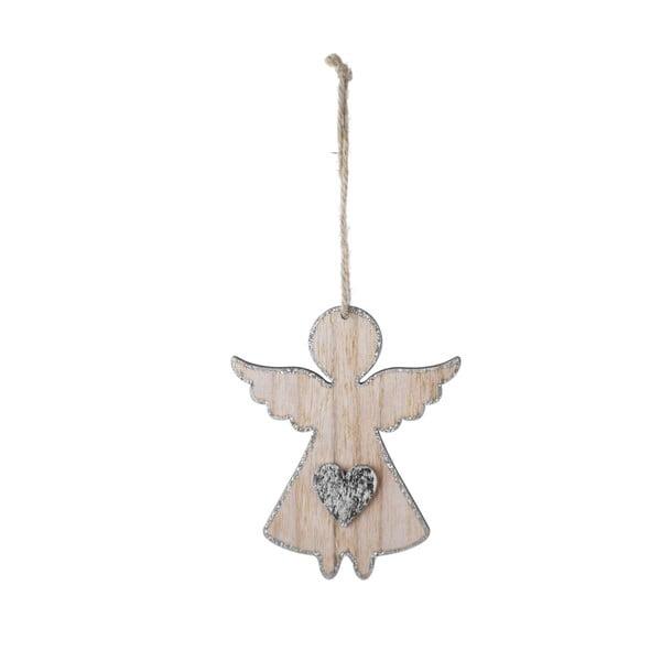 Malá závěsná vánoční dekorace ve tvaru anděla se srdcem Ego dekor