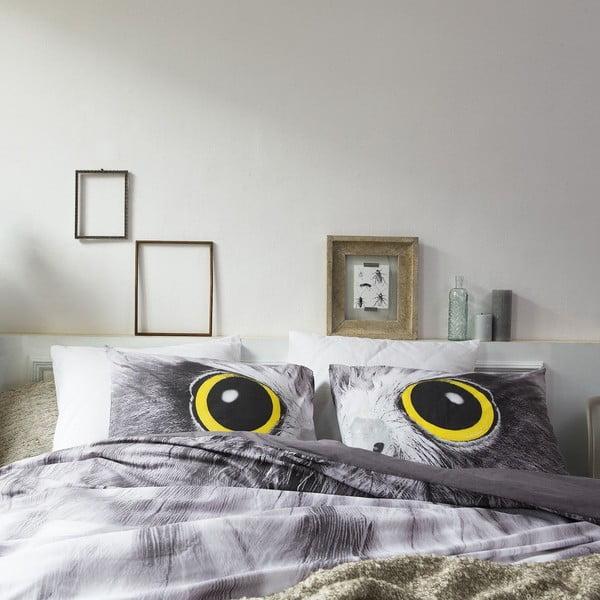 Povlečení Owl Look Grey, 200x200 cm