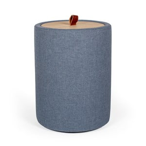Odkládací stolek v denimově modré barvě se snímatelnou deskou z dubového dřeva Askala Ibisco, ⌀36cm