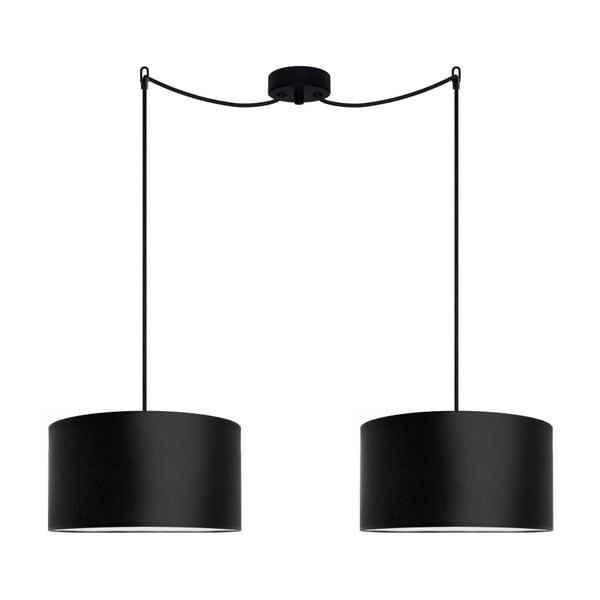 Černé dvojité stropní svítidlo Sotto Luce M