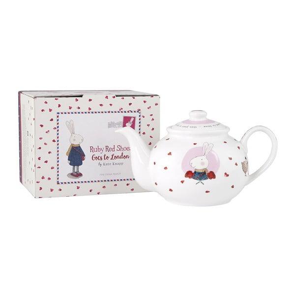 Ceainic din porțelan Ashdene Ruby Red London, 450 ml