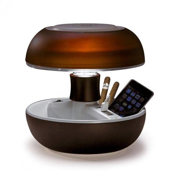 Stolní lampa a nabíječka v jednom Joyo Light, hnědá