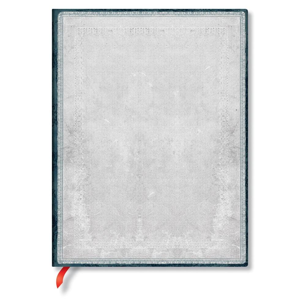 Linkovaný zápisník s měkkou vazbou ve stříbrné barvě Paperblanks Flint, 176stran