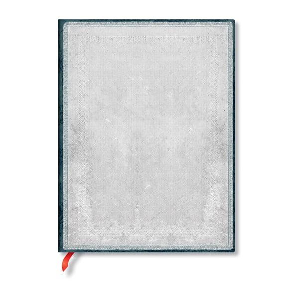 Agendă dictando cu copertă moale Paperblanks Flint, 176 file, argintiu