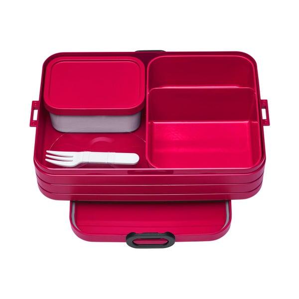 Červený box na oběd Rosti Mepal Ellipse Take a Break Bento, 25,5x17cm