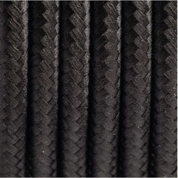 Lampadar cu abajur și cablu negru Ragaba Wanda