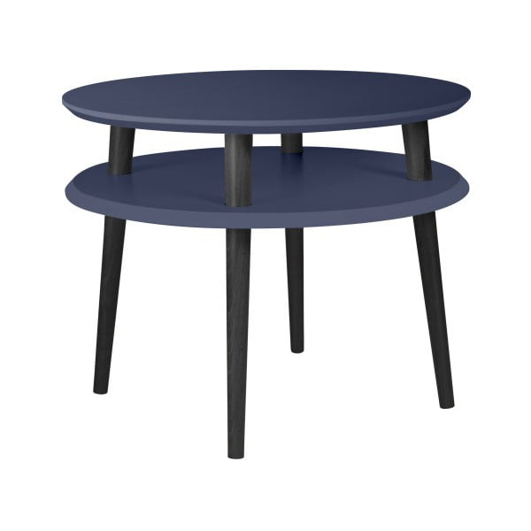 UFO grafitszürke kávézó asztal fekete lábakkal, Ø 57 cm - Ragaba