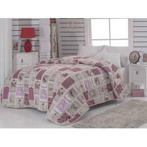 Cuvertură matlasată pentru pat matrimonial Ekol Dusty Rose, 195x215 cm