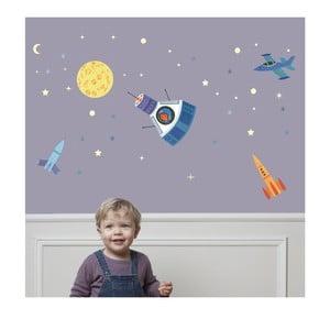 Svítící nástěnné samolepky Art For Kids Space