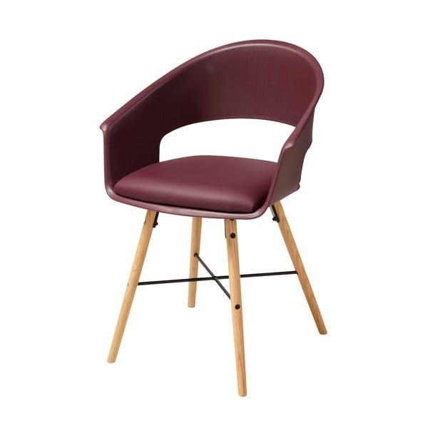 Vínovočervená jedálenská stolička s podnožím z bukového dreva Actona Ivar