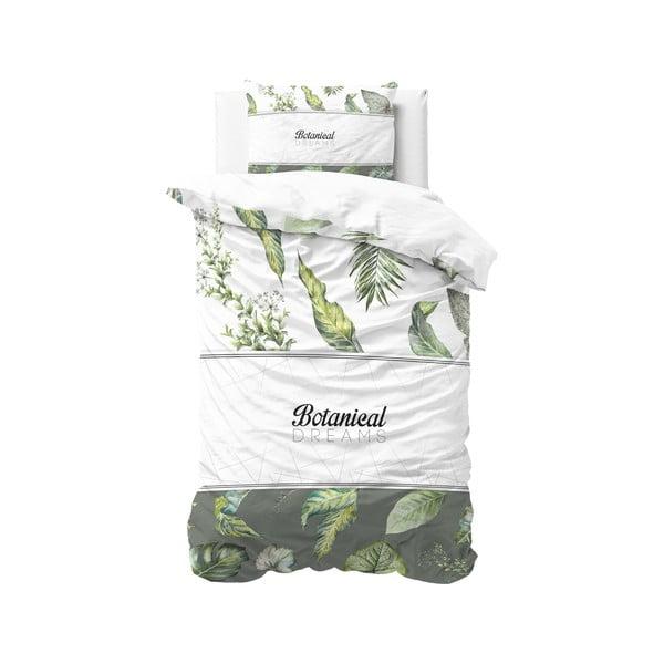 Bavlněné povlečení na jednolůžko Pure Cotton Botanical Dreams White, 140 x 200 cm