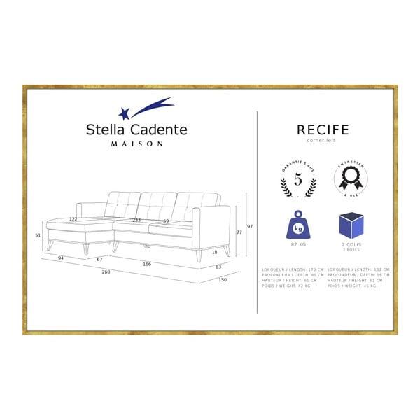 Námořnicky modrá pohovka s lenoškou na levé straně Stella Cadente Maison Recipe