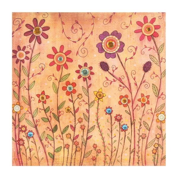 Obraz Květiny, 40x40 cm