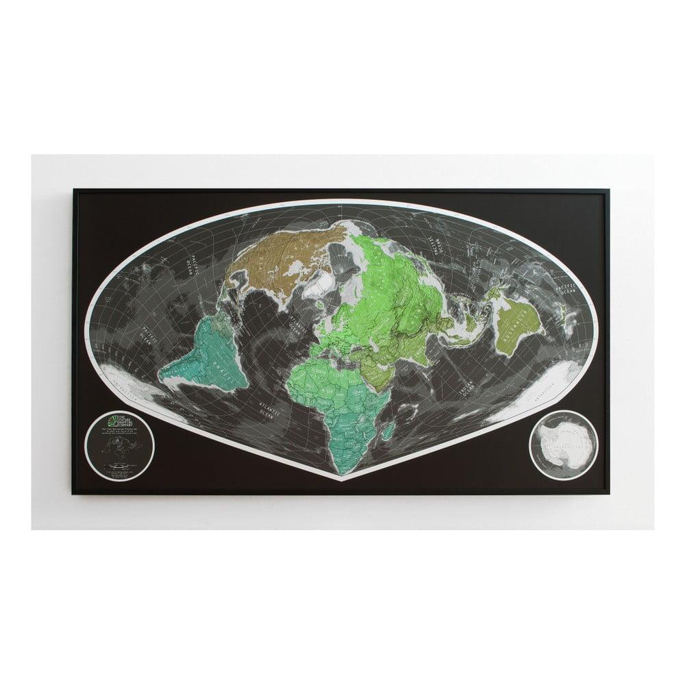 Zelená magnetická širokoúhlá mapa The Future Mapping Company Future Map, 101x58cm