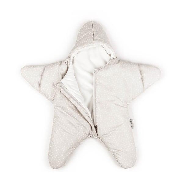 Dětský spací vak Beige Star, vhodný i na léto, pro děti od 4 do 7 měsíců
