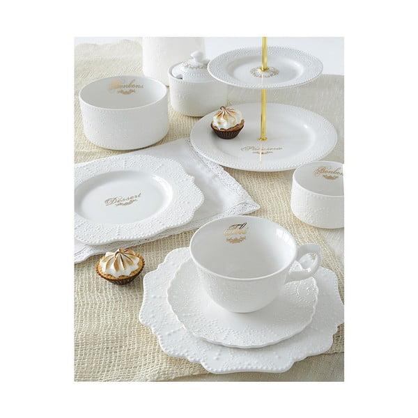 Ceainic din porțelan Santiago Pons Lace, alb