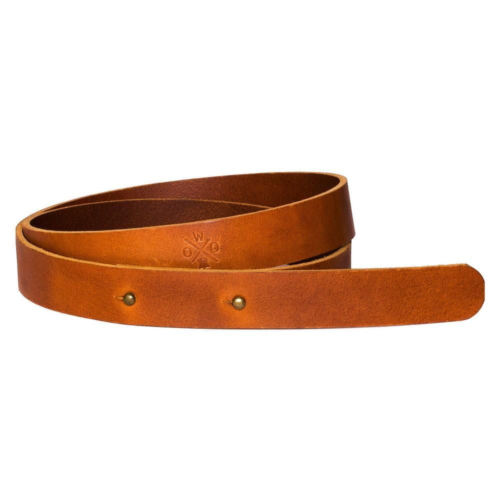 Světle hnědý dámský kožený pásek Woox Bini Dilutus, délka 92 cm
