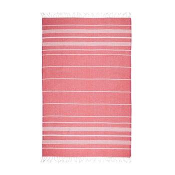 Prosop de plajă Kate Louise Cotton Collection Classic, 100 x 180 cm, roșu de la Kate Louise