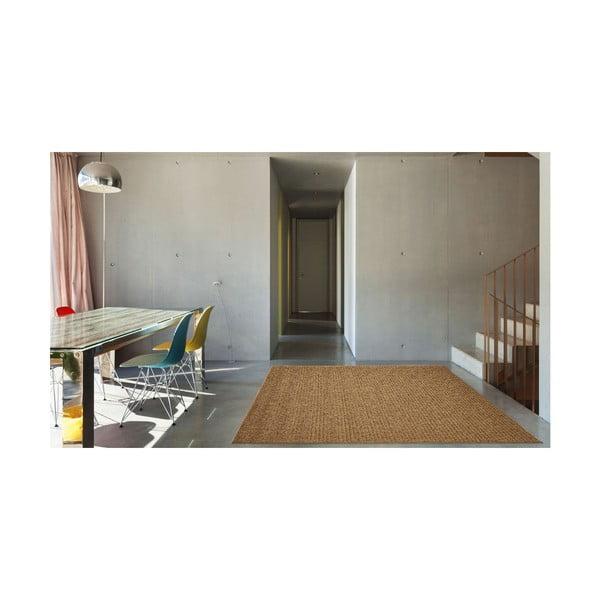 Covor foarte rezistent Floorita Plain, 200 x 285 cm, maro