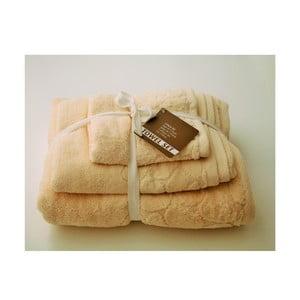 Sada 3 ručníků Seixos Natural