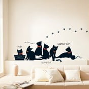 Autocolant Ambiance Cats with Bowties, negru