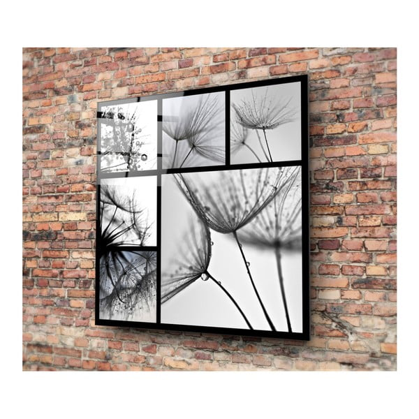 Černo-bílý skleněný obraz Insigne Harmo, 30x30cm