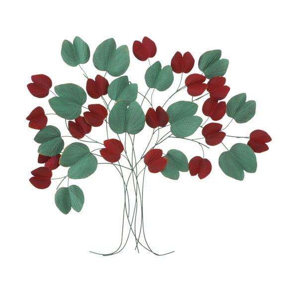 Nástenná červeno-zelená dekorácia Mauro Ferretti Tree, 105 × 94 cm