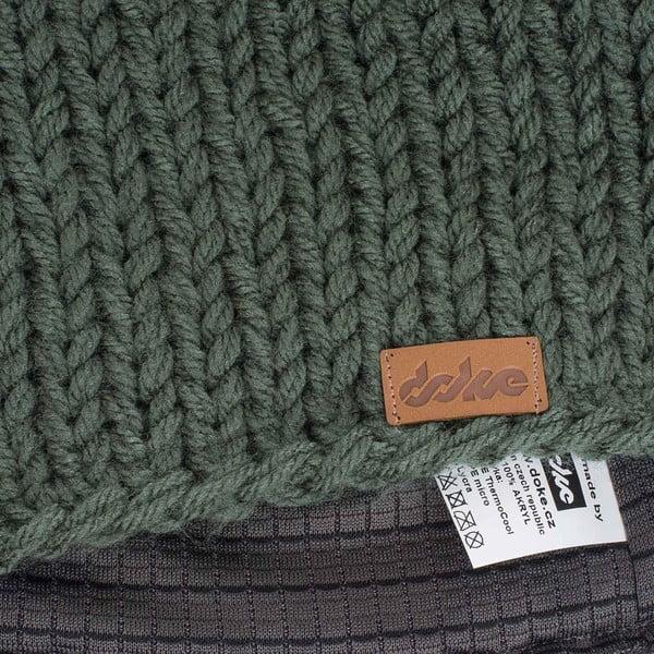Olivově zelená ručně pletená čepice DOKE Mina