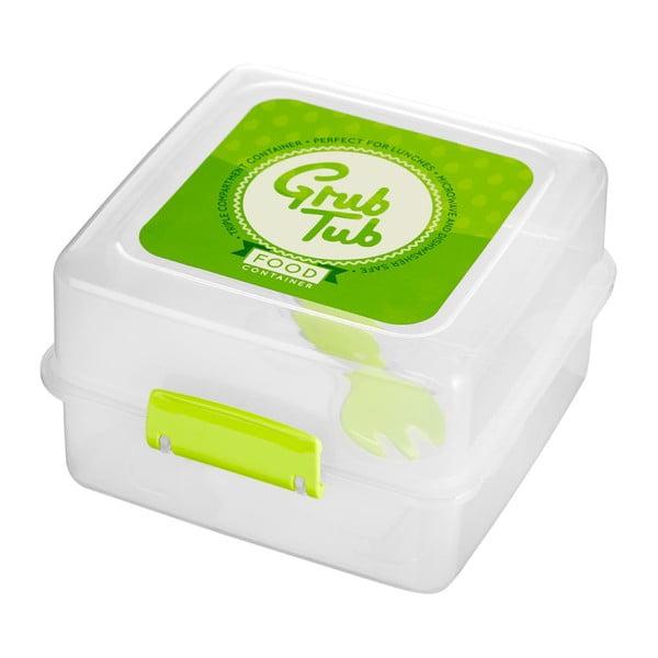 Zestaw 2 pojemników na przekąskę z zielonym wieczkiem Premier Housewares Grub Tub,13,5x10cm