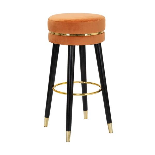 Černá barová židlička MauroFerretti Paris Ruggine/Gold