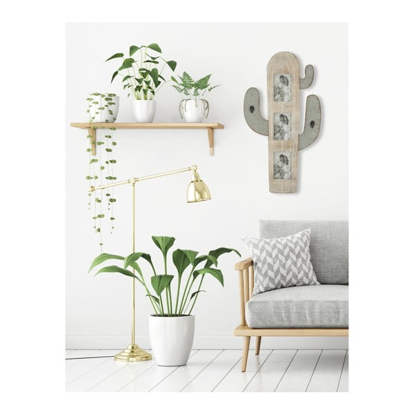 Nástěnná dekorace ve tvaru kaktusu s fotorámy Mauro Ferretti