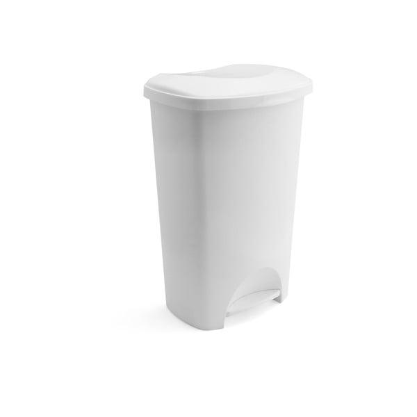 Bílý pedálový odpadkový koš s víkem Addis, 41 x 33 x 62,5 cm