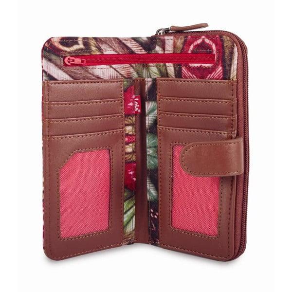 Barevná peněženka s exotickými vzory Lois, 18 x 9 cm