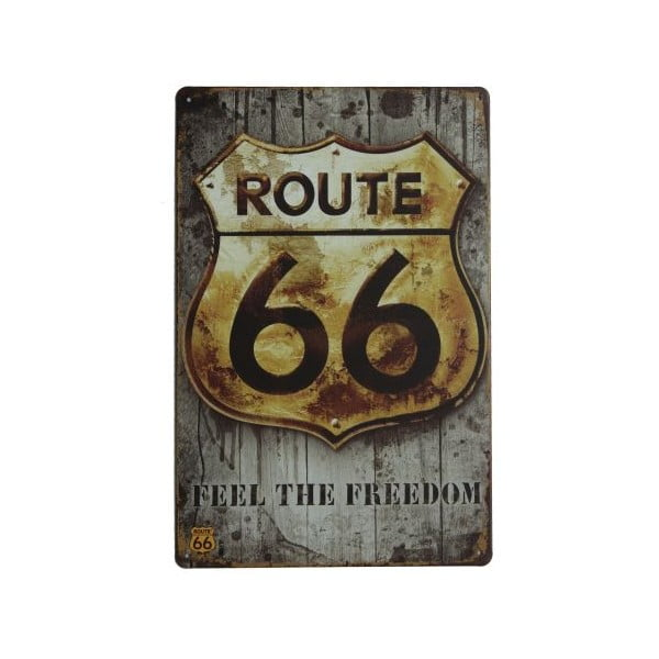 Cedule Route 66 Freedom, 20x30 cm