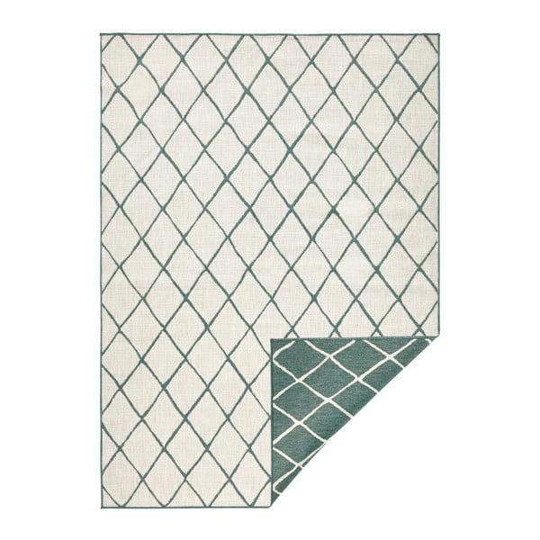 Zeleno-krémový venkovní koberec Bougari Malaga, 200x290 cm