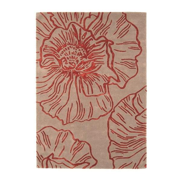 Vlněný koberec Liberty Beige Red 200x300 cm