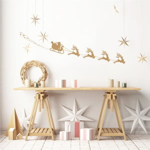 Autocolant Crăciun Ambiance Sledge Santa
