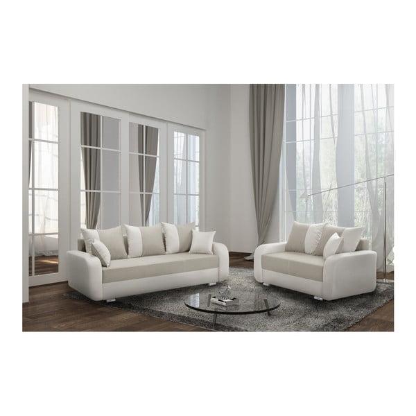 Canapea cu 3 locuri INTERIEUR DE FAMILLE PARIS Destin, maro crem