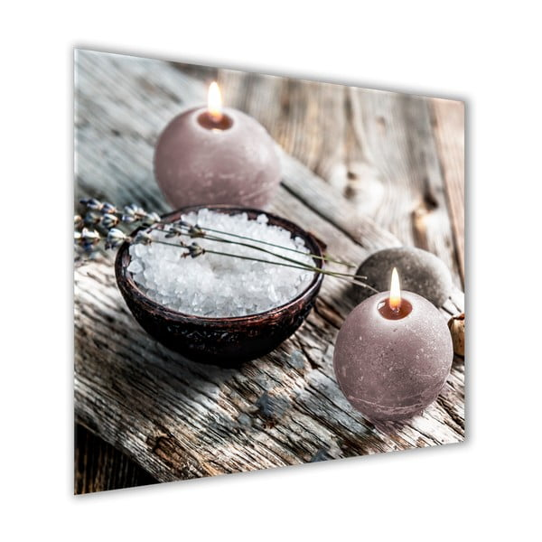 Obraz Styler Glasspik Spa & Zen Grey Wood, 30 x 30 cm