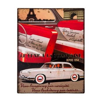 Placă metalică Antic Line Le Luxe a la Francaise, 22 x 28 cm