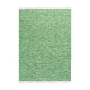 Covor de lână țesut manual Linie Design Solid, 140 x 200 cm, verde lime