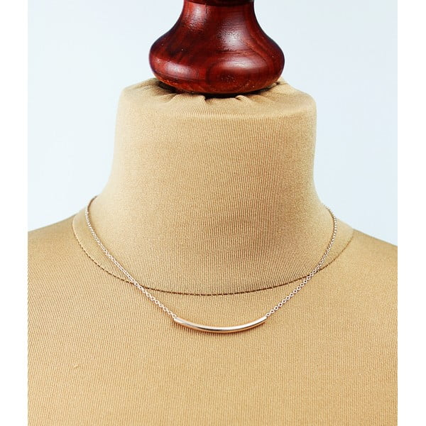 Náhrdelník Copper Gold Curve Tube