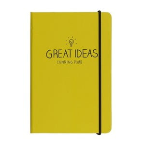 Agendă Happy Jackson Great Ideas Yellow, A6