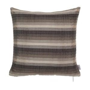 Plisovaný povlak na polštář Apolena, hnědý