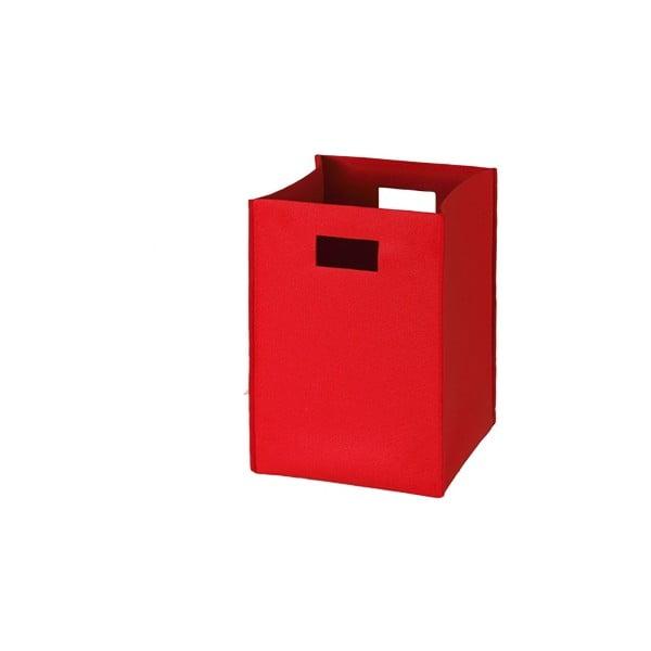 Plstěná krabice 36x25 cm, červená